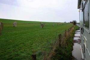 Stone Avenue - 100 neolithic pairs of stones leading from Avebury
