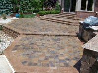 Brick Paver Porch Patio and Stairs