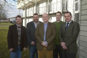 Dr. Bernd von Garmissen, Achim Hübner, Friedhelm Stock, Gerhard Rudolph, Carl Jürgen Conrad, Stand Februar 2014 (Foto: landpixel)