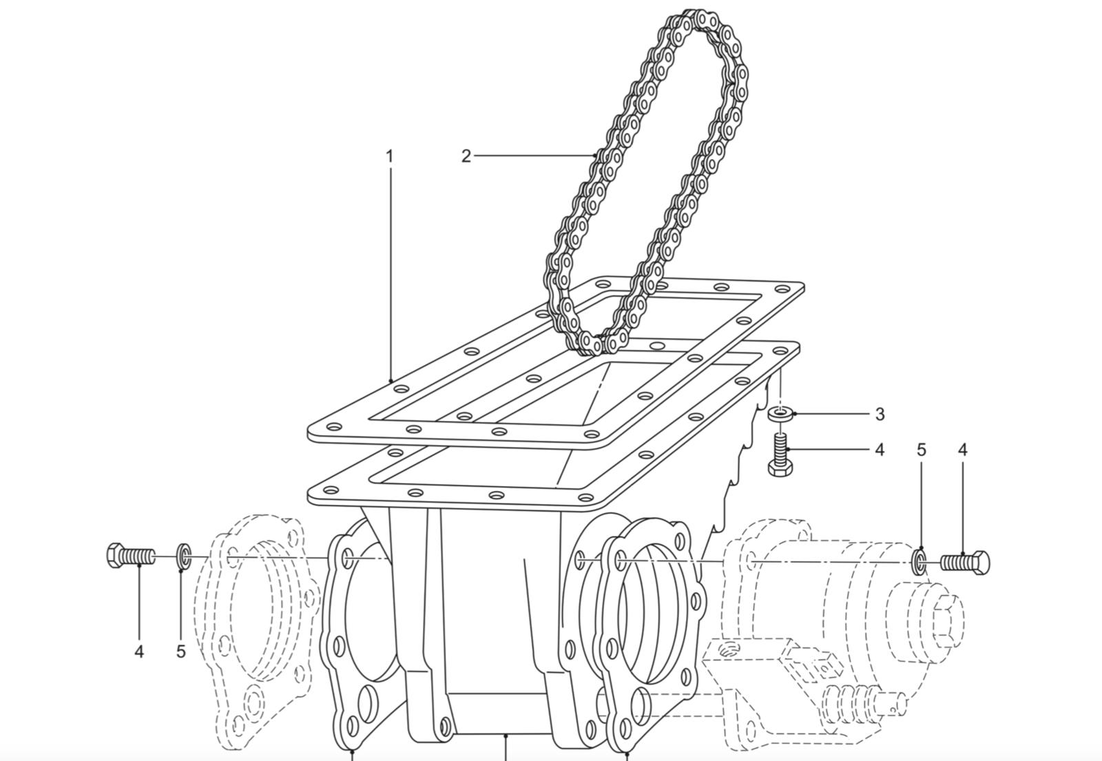 Land Rover Perentie Pto Chain
