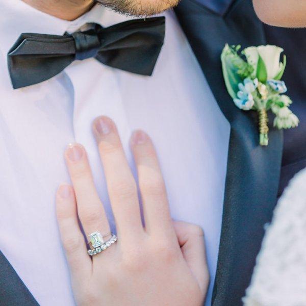 bague de fiançailles, diamant, alliance, jonc parisien, tour complet, platine, or blanc