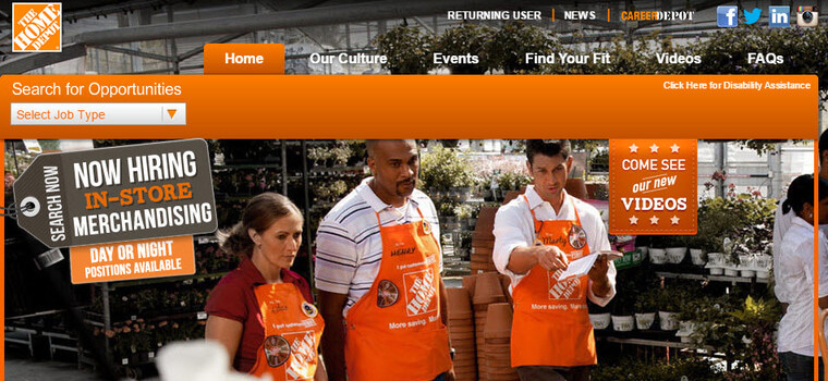 Home Depot Application  2018 Careers Job Requirements