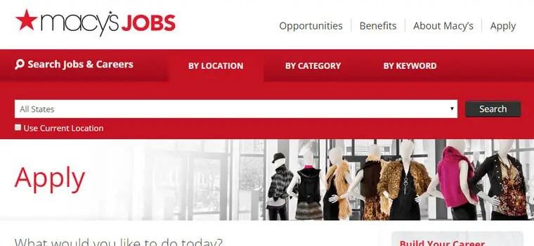Macy's Application | 2019 Careers Job Requirements ...