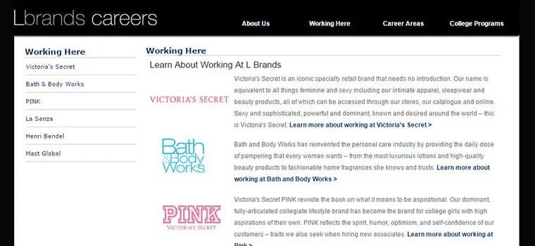 Victoria's Secret Application Online Form & Job