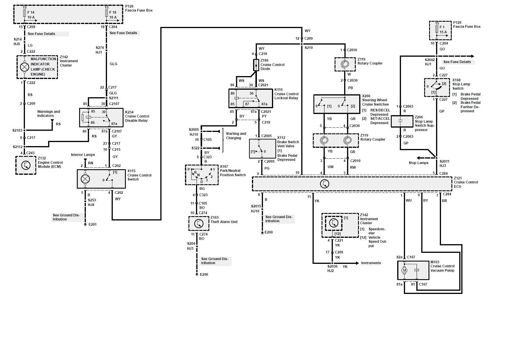 land rover cruise control diagram