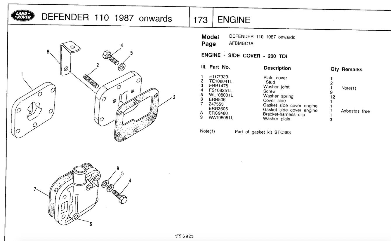 200tdi Defender engine crank case breather cover