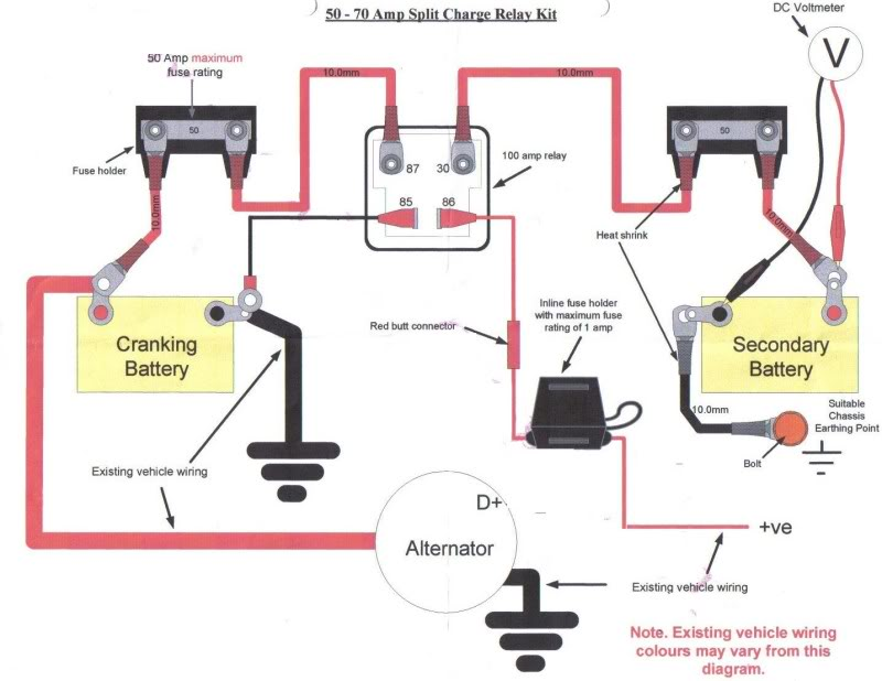 Wiring Diagram For 12s Socket And Split Charge Relay