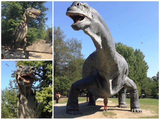 dinosauri al parco della preistoria