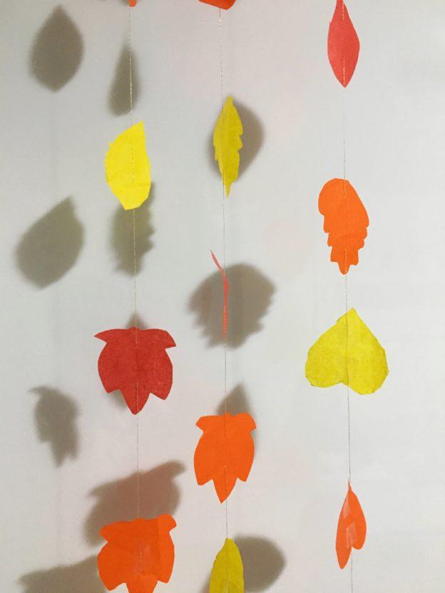 tenda di foglie autunnali