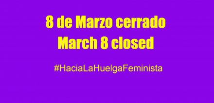 Resultado de imagen de cerrado por huelga feminista