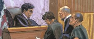 """CBS difunde VIDEO que muestra el momento de la llegada de """"El Chapo"""" a corte de NY"""