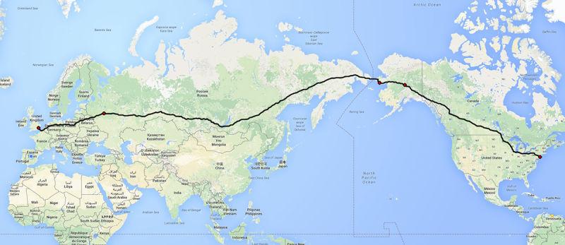 Proyecto ruso para unir Londres y Nueva York por carretera