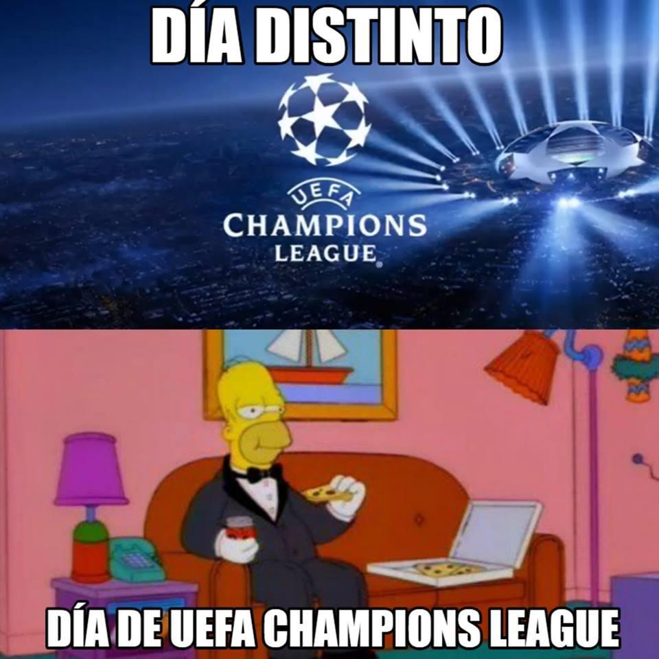 Día distinto, día de Champions League