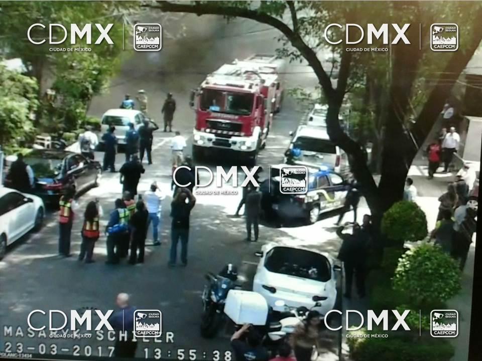 Reportan explosión en el área de Polanco