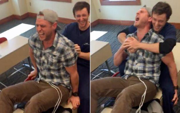 Un joven decide experimentar el dolor de un parto y esta es su reacción