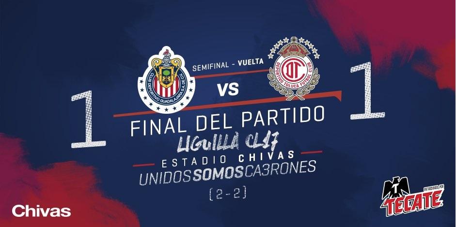 Chivas es el primer finalista de la Liga Bancomer MX