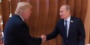Ya se dio el tan esperado saludo entre Trump y Putin