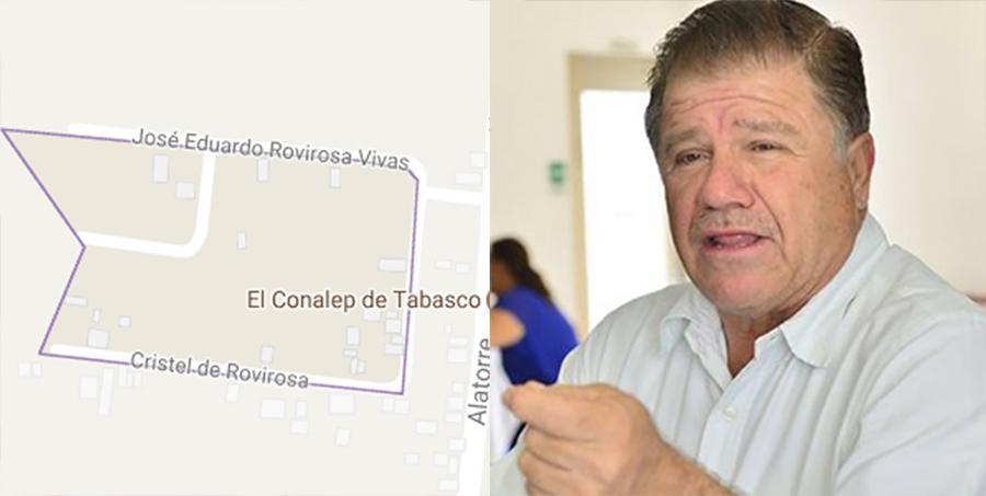 Alcalde de Macuspana bautiza calles con nombres de su esposa e hijo