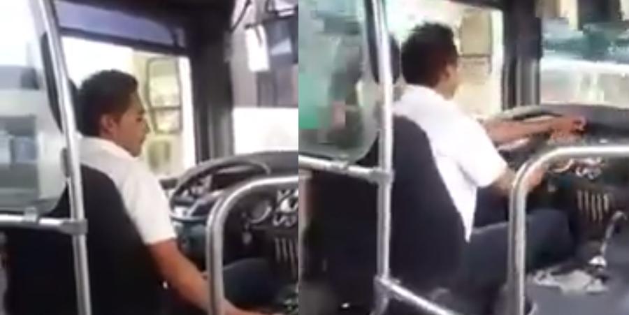 Chofer le canta al desamor y se vuelve viral #VIDEO