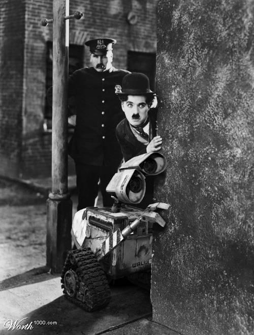 Chaplin-Wall-E