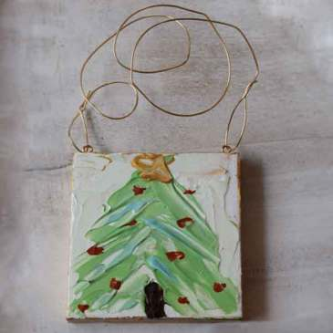 Tree Painted Ornament