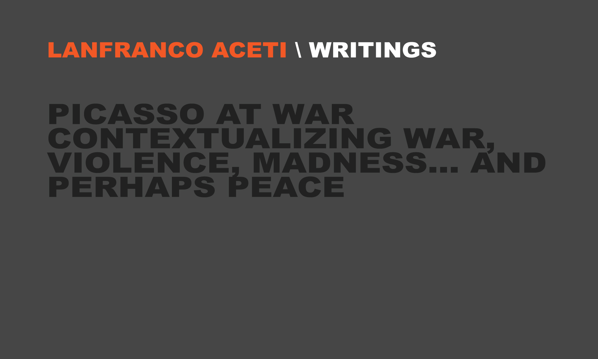 picasso at war lanfranco aceti picasso at war