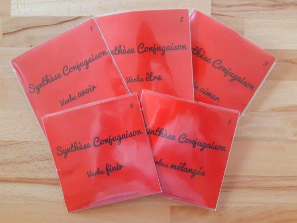Synthèse conjugaison ; étiquettes de manipulation Montessori