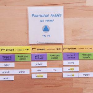 formation des participes passés des verbes en pédagogie Montessori