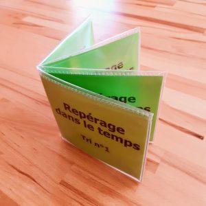 étiquettes se repérer dans le temps ; Conjugaison Montessori; matériel autocorrectif