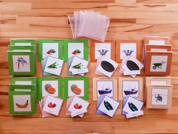 images classifiées Montessori plantes-outils-engins