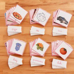 2ème série d'écriture-lecture ; lecture du mot Montessori; apprendre à lire et à écrire en pédagogie Montessori; série roseMontessori ; mots à lire