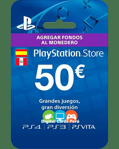 Tarjeta Playstation Network 50 euros ES