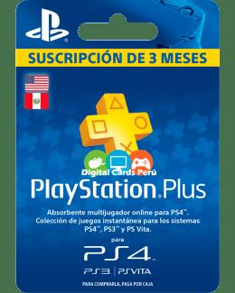 Tarjeta 3 meses Playstation Plus Americana
