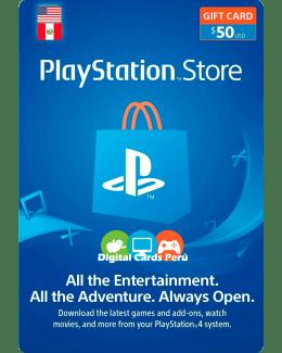 arjeta Playstation Network 50 dolares