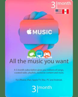 Membresia 3 Meses Apple Music cuenta americana