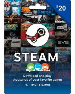 Tarjeta Steam 20 dolares