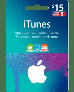 iTunes 15 dolares cuenta americana