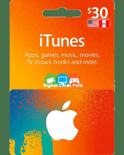 iTunes 30 dolares cuenta americana