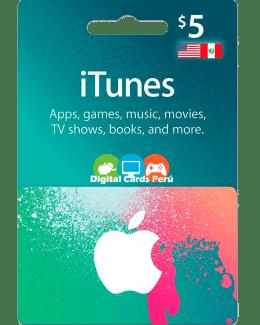 iTunes 5 dolares cuenta americana
