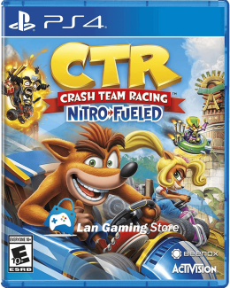 Cover Crash Team Racing para PS4, tambien conocido como Crash Car