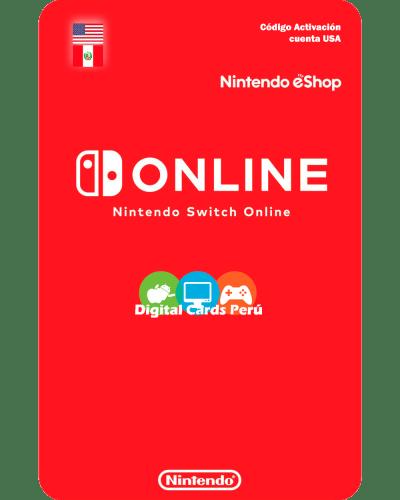 Foto Nintendo Switch Online para cuenta Estados Unidos