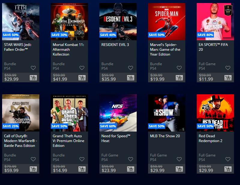Foto de las ofertas de verano 2020 en la PS Store