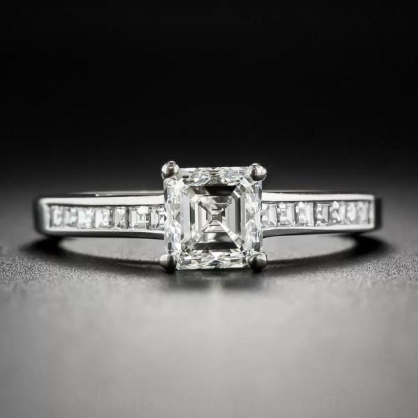 1.01 Carat Asscher Cut Diamond Ring - Gia Vs1