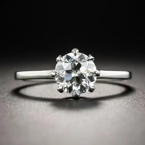1.20 Carat European-cut Diamond Solitaire - Gia Vs2 Lang
