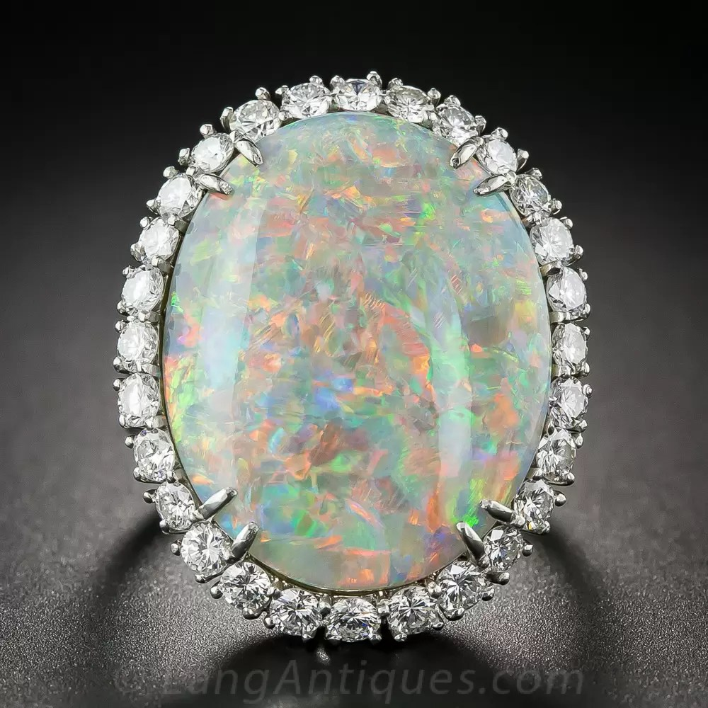 1415 Carat Opal And Diamond Ring By Winston