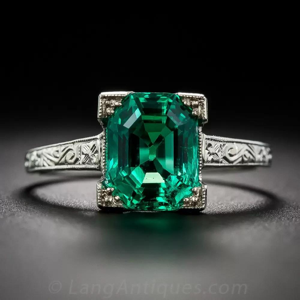 2 44 Carat Natural No Enhancements Emerald Ring