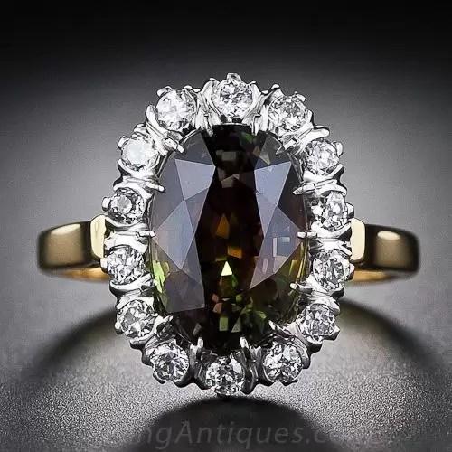 419 Carat Alexandrite and Diamond Ring
