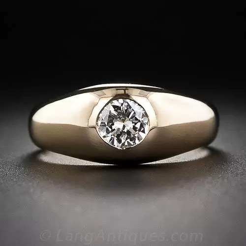 55 Carat Diamond Estate Flush Set Ring