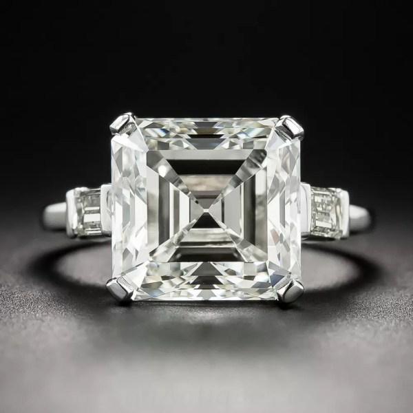 6.05 Carat Asscher Cut Diamond Ring - Gia Vs1