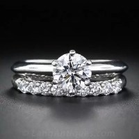 .87 Carat Diamond Tiffany & Co Wedding Set